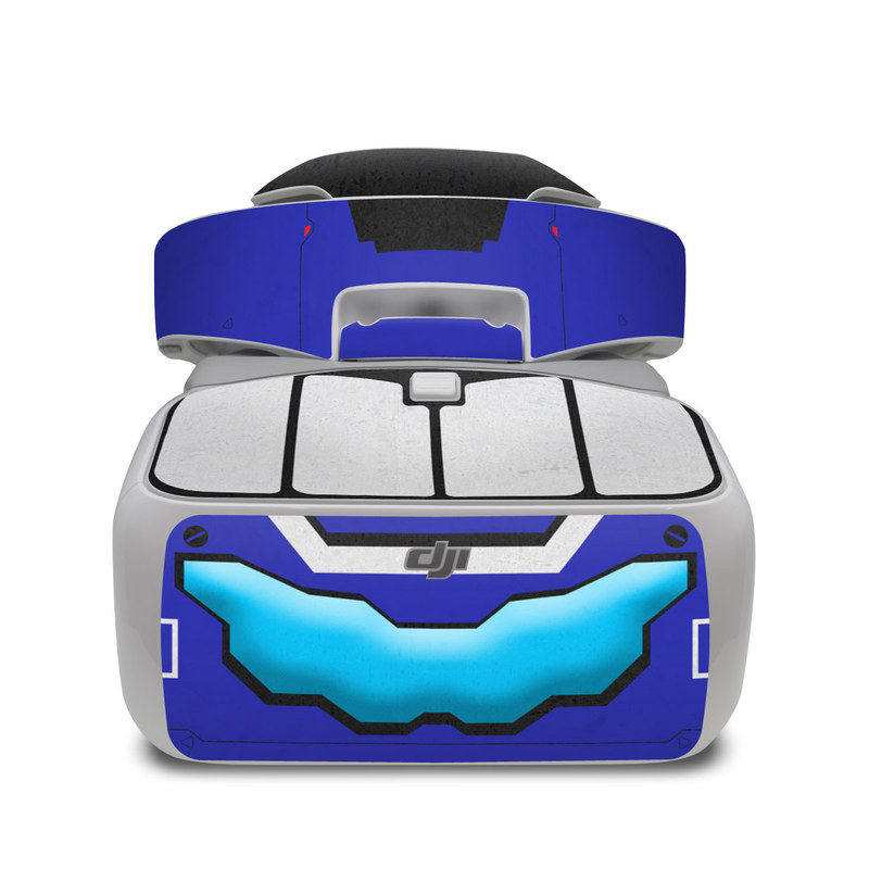 DJI Goggles Skin design of Floppy disk, Technology, Electric blue, Fictional character with white, blue, black, gray colors
