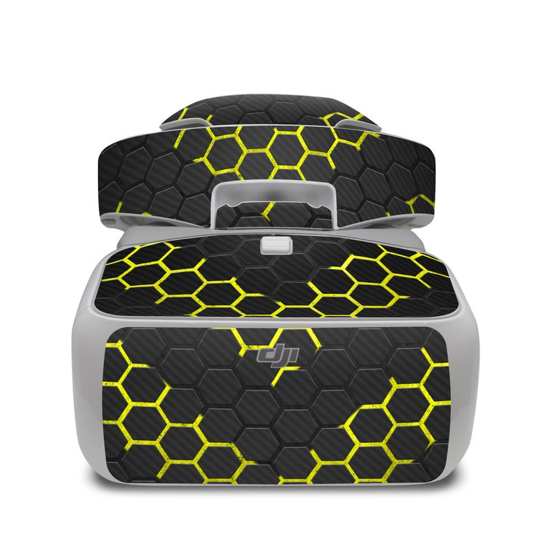 DJI Goggles Skin design with black, gray, yellow colors
