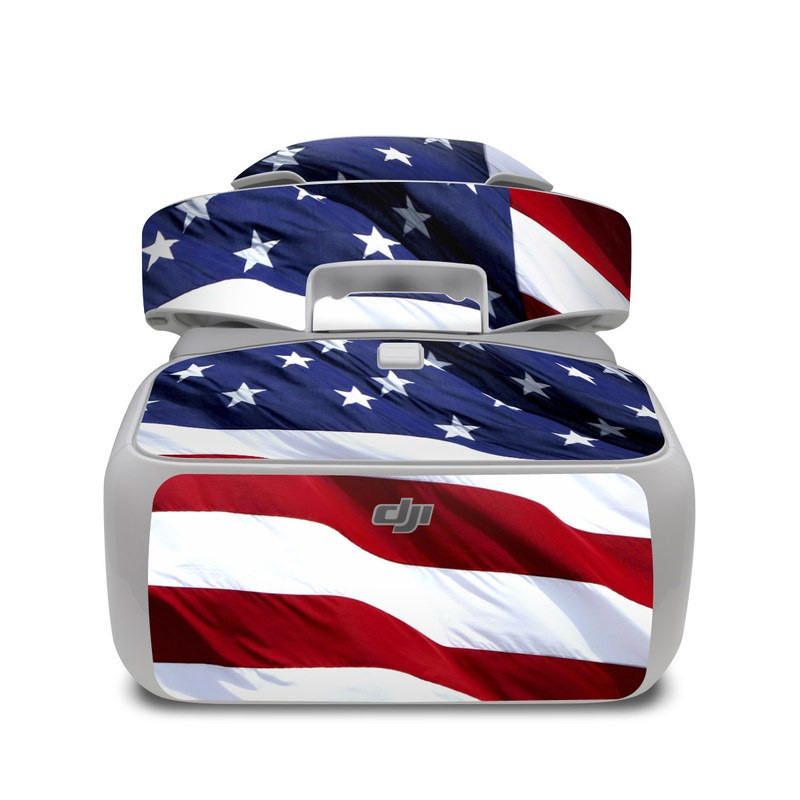 DJI Goggles Skin design of Flag, Flag of the united states, Flag Day (USA), Veterans day, Memorial day, Holiday, Independence day, Event with red, blue, white colors