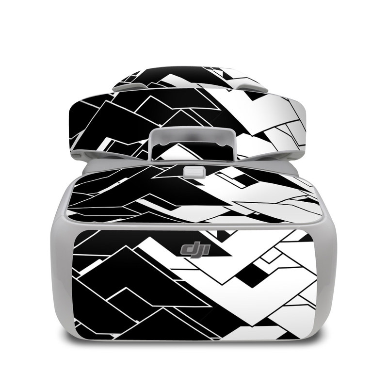 DJI Goggles Skin design of Pattern, Black, Black-and-white, Monochrome, Monochrome photography, Line, Design, Parallel, Font with black, white colors