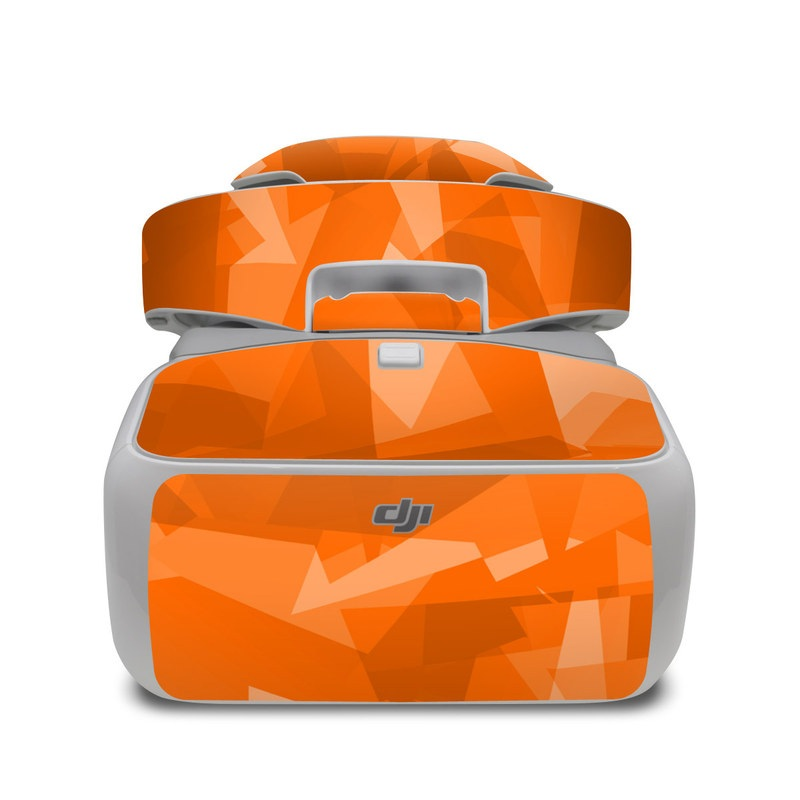 DJI Goggles Skin design with orange colors