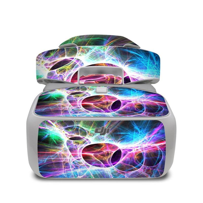 DJI Goggles Skin design of Fractal art, Light, Pattern, Purple, Graphic design, Design, Colorfulness, Electric blue, Art, Neon with black, gray, blue, purple colors
