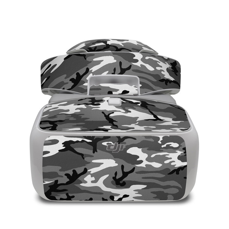 DJI Goggles Skin design of Military camouflage, Pattern, Clothing, Camouflage, Uniform, Design, Textile with black, gray colors