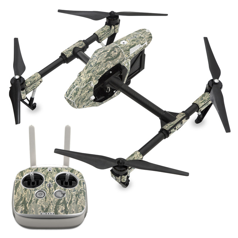 DJI Inspire 1 Skin design of Pattern, Grass, Plant with gray, green colors