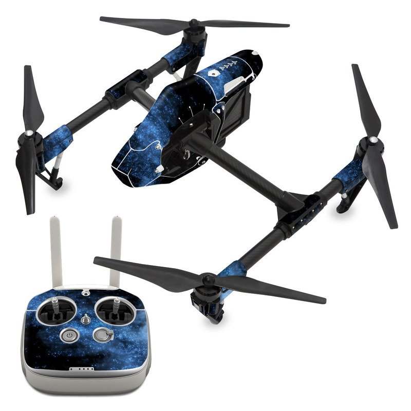 DJI Inspire 1 Skin design of Sky, Atmosphere, Black, Blue, Outer space, Atmospheric phenomenon, Astronomical object, Darkness, Universe, Space with black, blue colors