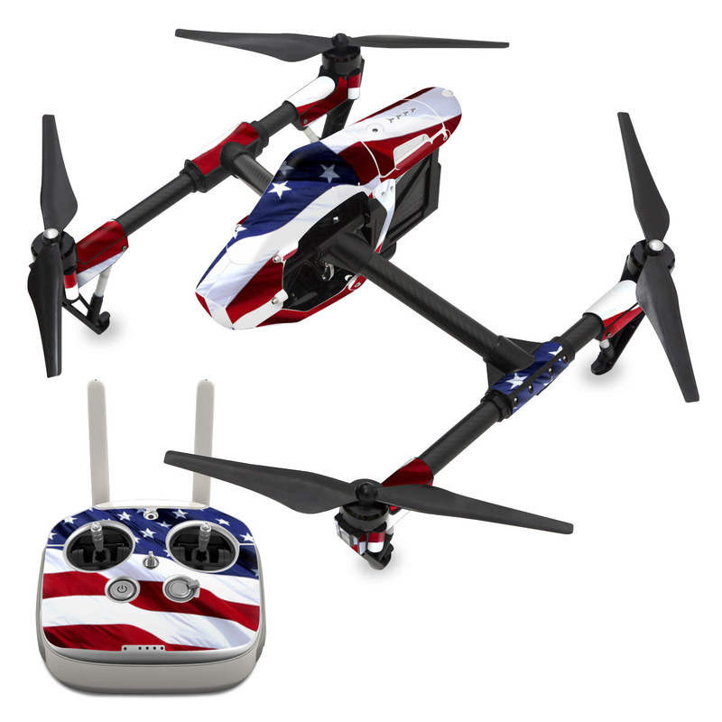 DJI Inspire 1 Skin design of Flag, Flag of the united states, Flag Day (USA), Veterans day, Memorial day, Holiday, Independence day, Event with red, blue, white colors