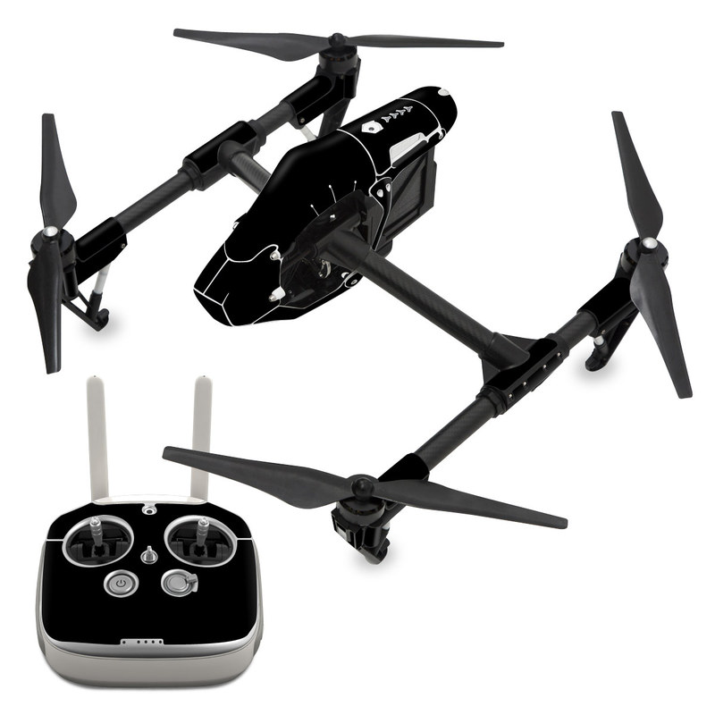 DJI Inspire 1 Skin design of Black, Darkness, White, Sky, Light, Red, Text, Brown, Font, Atmosphere with black colors