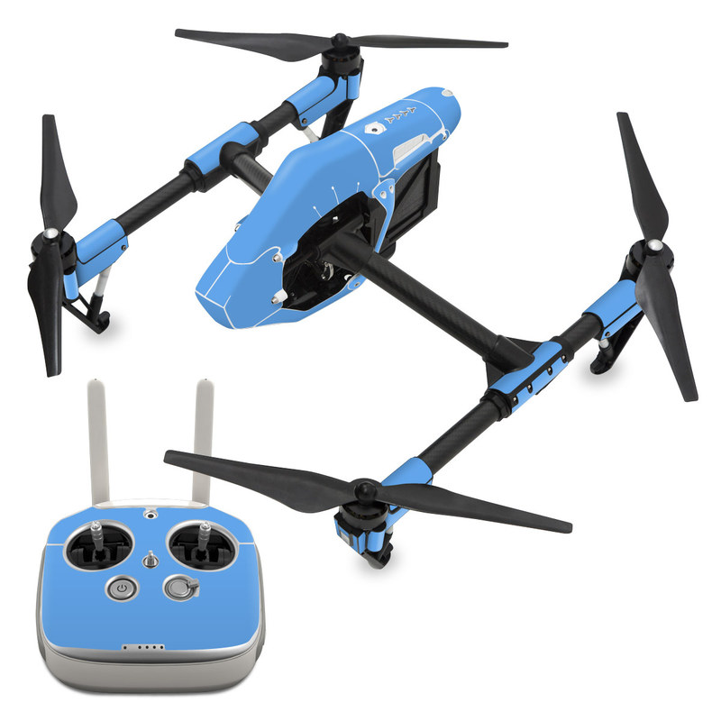 DJI Inspire 1 Skin design of Sky, Blue, Daytime, Aqua, Cobalt blue, Atmosphere, Azure, Turquoise, Electric blue, Calm with blue colors