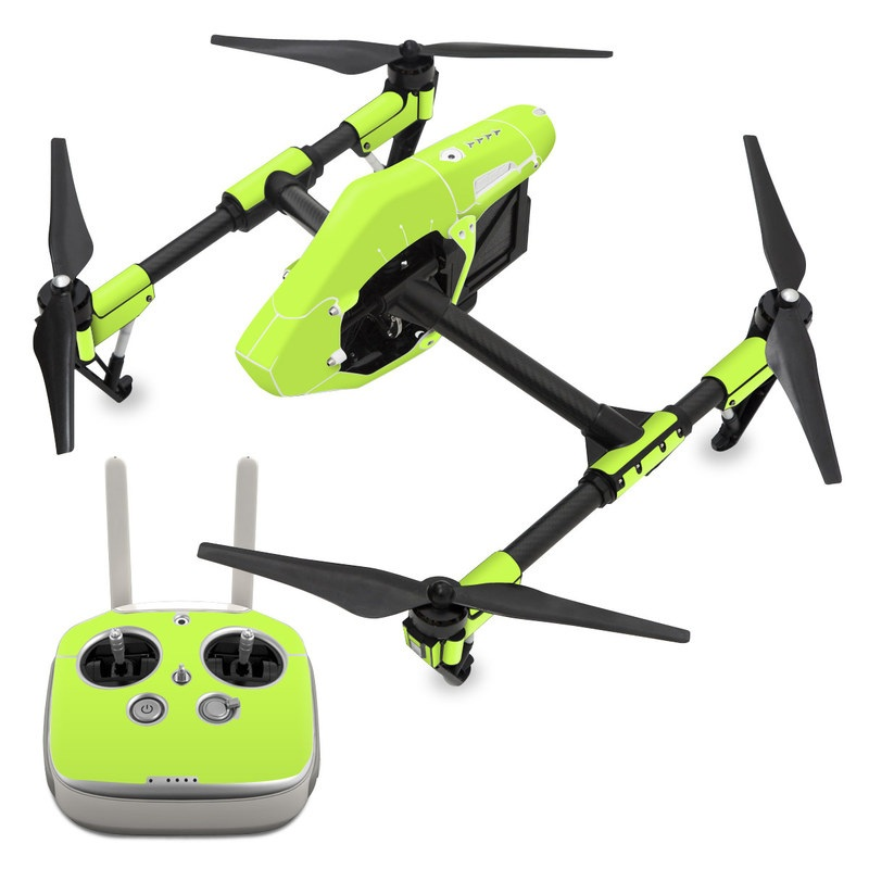 Solid State Lime DJI Inspire 1 Skin