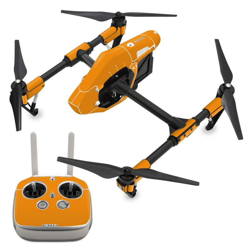 DJI Inspire 1 Skin design of Orange, Yellow, Brown, Text, Amber, Font, Peach with orange colors