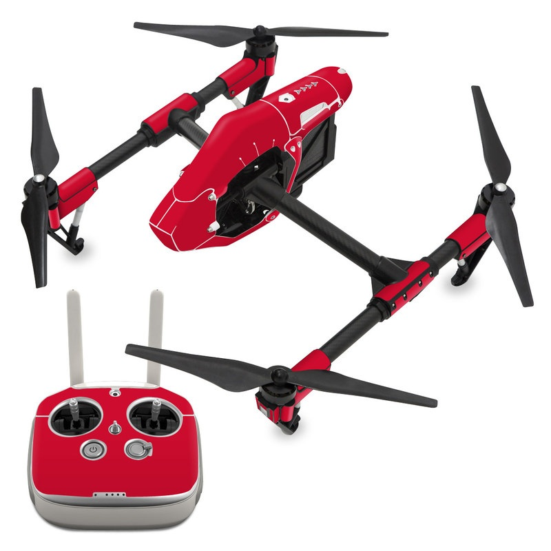 Solid State Red DJI Inspire 1 Skin