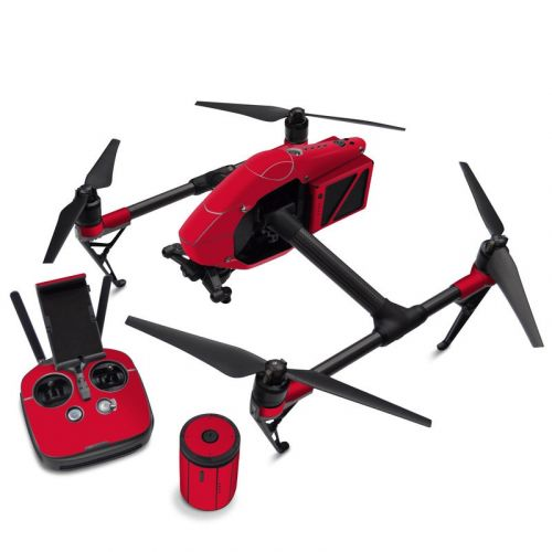 Solid State Red DJI Inspire 2 Skin
