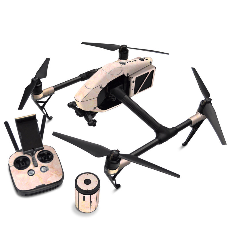 DJI Inspire 2 Skin design of Pink, Peach, Wallpaper, Pattern with pink, yellow, orange colors