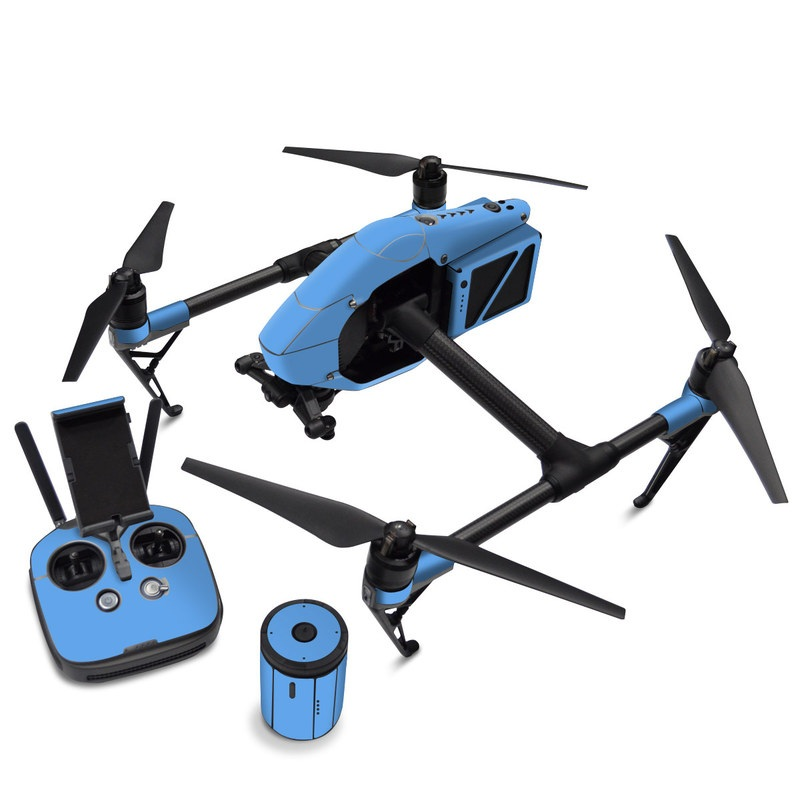 DJI Inspire 2 Skin design of Sky, Blue, Daytime, Aqua, Cobalt blue, Atmosphere, Azure, Turquoise, Electric blue, Calm with blue colors