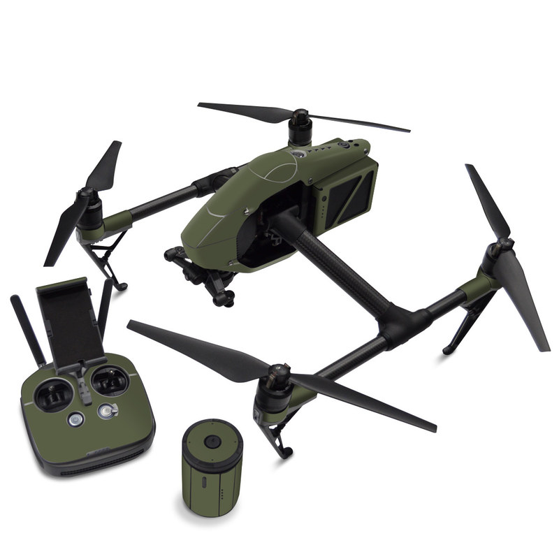 DJI Inspire 2 Skin design of Green, Brown, Text, Yellow, Grass, Font, Pattern, Beige with green colors