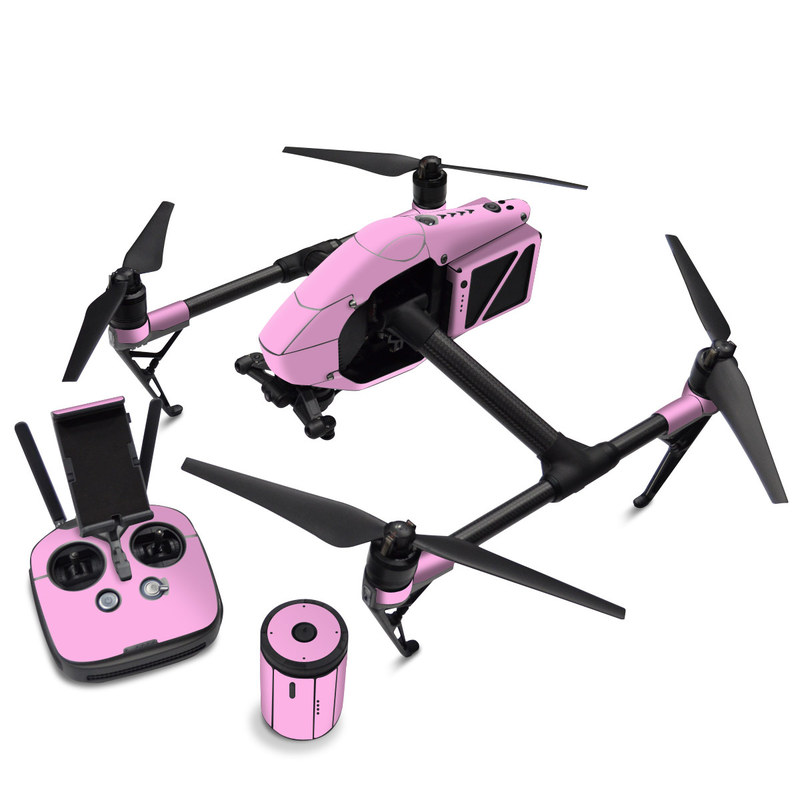DJI Inspire 2 Skin design of Pink, Violet, Purple, Red, Magenta, Lilac, Sky, Material property, Peach with pink colors