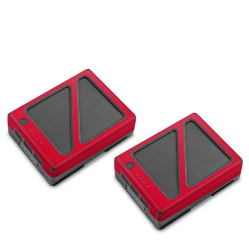 Solid State Red DJI Inspire 2 Battery Skin