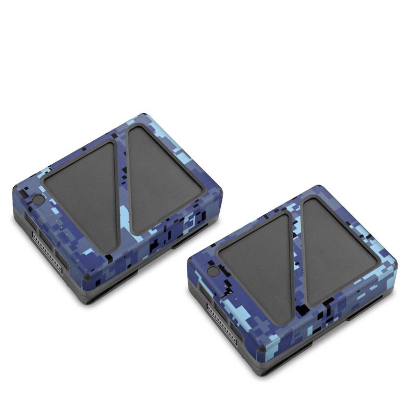 DJI Inspire 2 Battery Skin design of Blue, Purple, Pattern, Lavender, Violet, Design with blue, gray, black colors