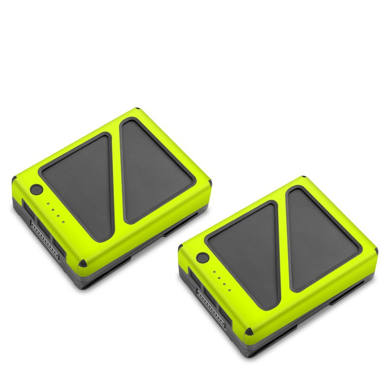 DJI Inspire 2 Battery Skin design of Yellow, Line, Font, Military rank with white, green, red, yellow colors