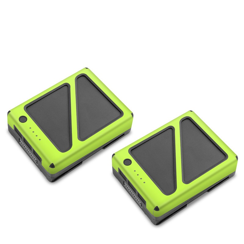 DJI Inspire 2 Battery Skin design of Green, Yellow, Text, Leaf, Font, Grass with green colors