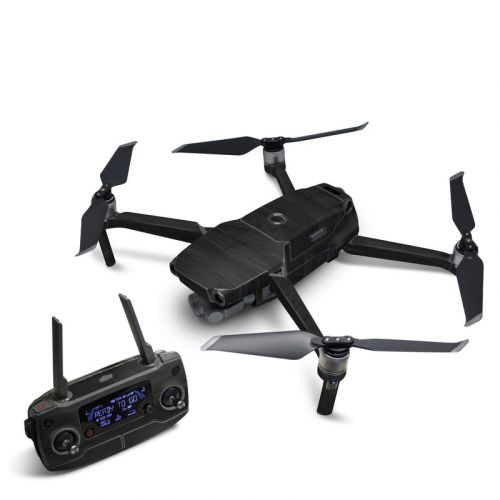 Black Woodgrain DJI Mavic 2 Skin