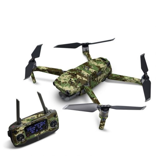 Digital Woodland Camo DJI Mavic 2 Skin