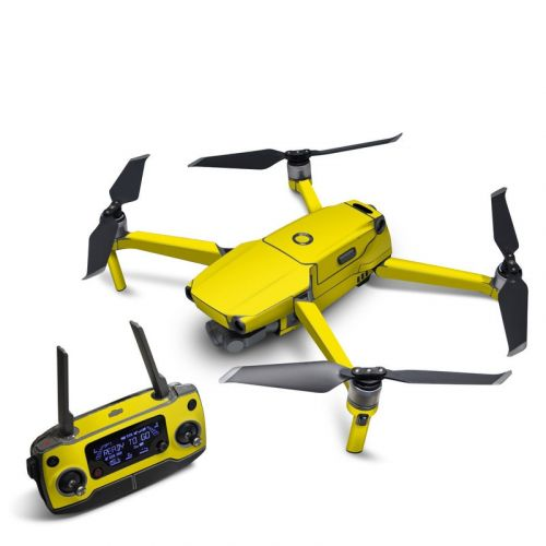 Solid State Yellow DJI Mavic 2 Skin