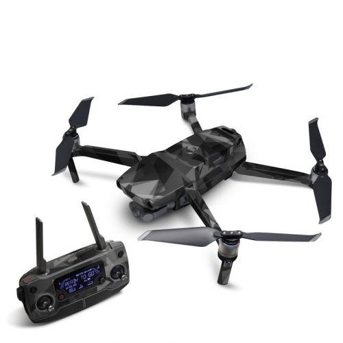 Camo Black Drone Skin Wrap Decal Stickers for DJI Mavic Pro