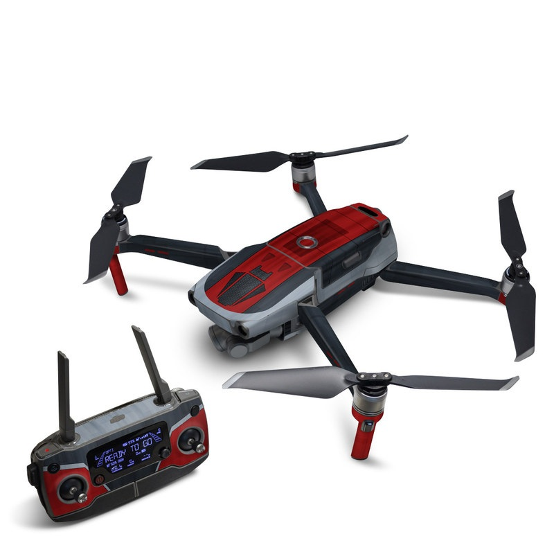 DJI Mavic 2 Skin design with black, red, gray colors