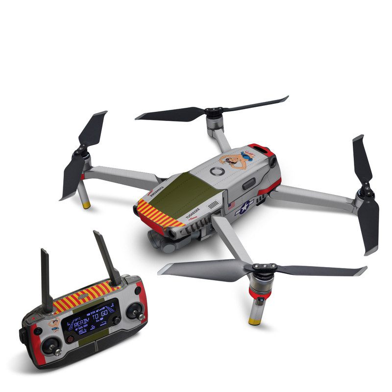 DJI Mavic 2 Skin design of Product, Textile, Font, Rectangle, Art, Pattern, Illustration, Graphics, Logo, Design with gray, red, yellow, green, blue, white, blue, black colors