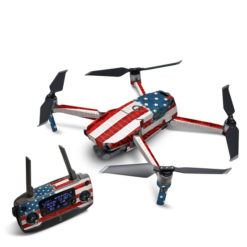 DJI Mavic 2 Skin design of Flag, Flag of the united states, Red, Flag Day (USA), Line, Pattern, Textile, Independence day, Veterans day, Tablecloth with red, blue, white colors