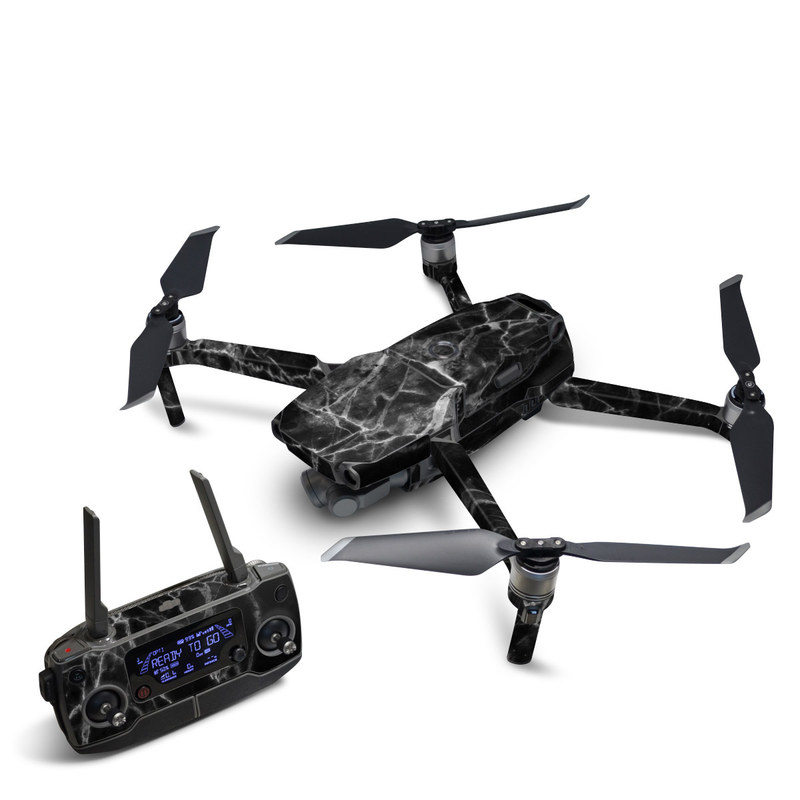 DJI Mavic 2 Skin design of Black, White, Nature, Black-and-white, Monochrome photography, Branch, Atmosphere, Atmospheric phenomenon, Tree, Sky with black, white colors