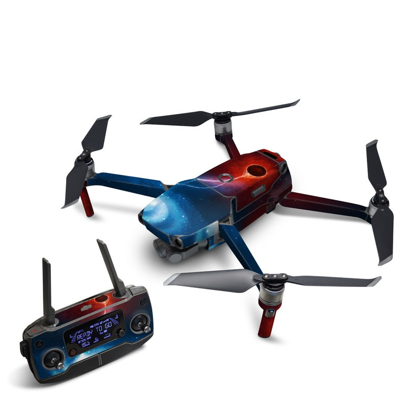 DJI Mavic 2 Skin design of Outer space, Atmosphere, Astronomical object, Universe, Space, Sky, Planet, Astronomy, Celestial event, Galaxy with blue, red, black colors