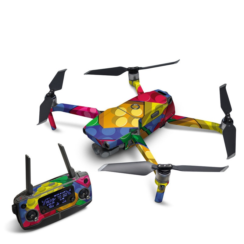 DJI Mavic 2 Skin design of Colorfulness, Pattern, Circle, Games, Play with red, blue, green, yellow, orange, pink colors
