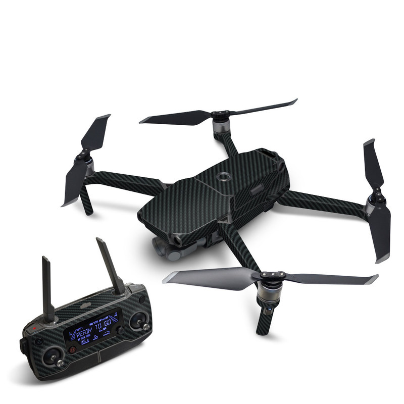 DJI Mavic 2 Skin design of Green, Black, Blue, Pattern, Turquoise, Carbon, Textile, Metal, Mesh, Woven fabric with black colors