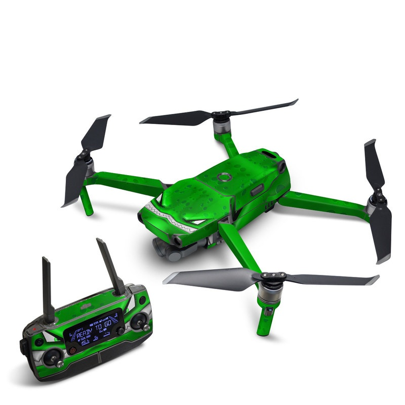 DJI Mavic 2 Skin design of Green, Font, Animation, Logo, Graphics, Games with green, white colors