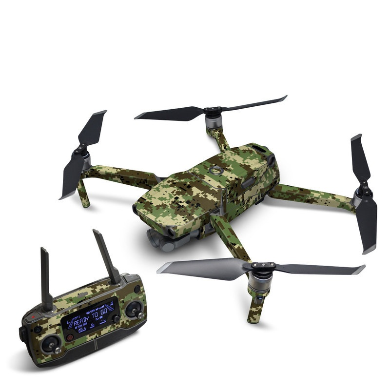 DJI Mavic 2 Skin design of Military camouflage, Pattern, Camouflage, Green, Uniform, Clothing, Design, Military uniform with black, gray, green colors