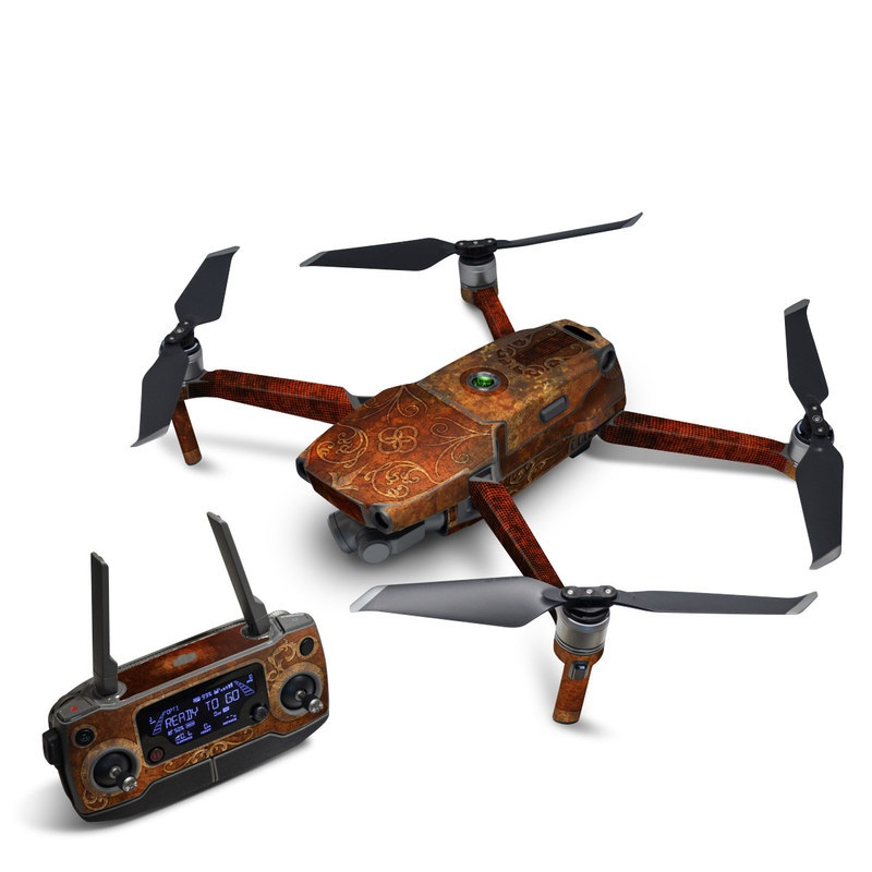 DJI Mavic 2 Skin design with brown, yellow colors