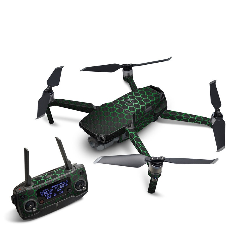 DJI Mavic 2 Skin design with black, gray, green colors