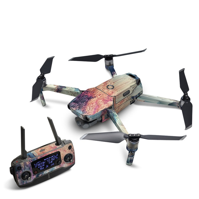 DJI Mavic 2 Skin design of Blue, Pink, Sky, Turquoise, Design, Rock, Textile, Photography, Cloud, Winter with white, blue, purple, pink, red colors