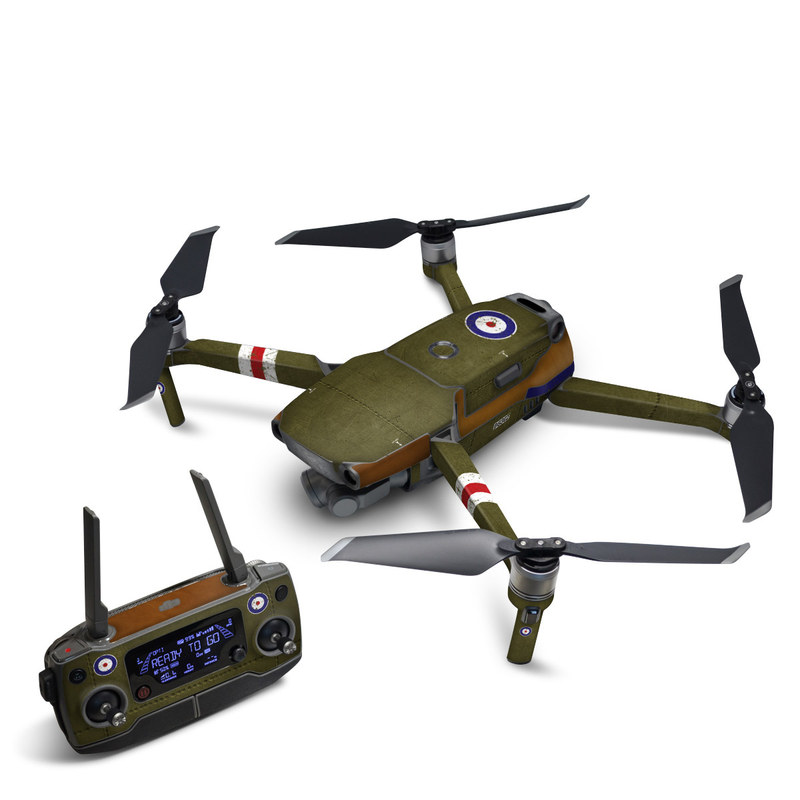 DJI Mavic 2 Skin design with green, red, white, blue colors