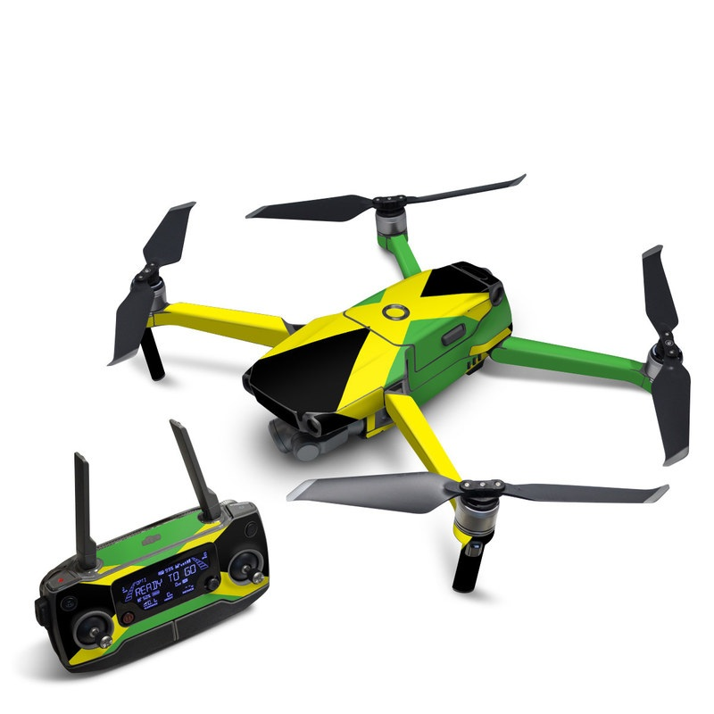 DJI Mavic 2 Skin design of Green, Flag, Yellow, Macro photography, Graphics, Graphic design with black, green, yellow colors