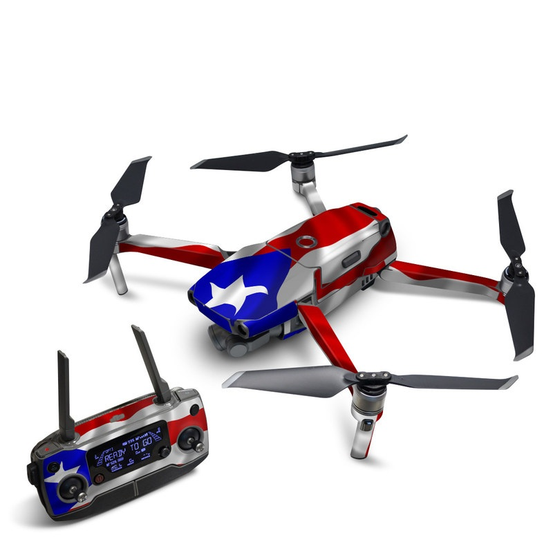 DJI Mavic 2 Skin design of Flag, Flag of the united states, Flag Day (USA), Veterans day, Independence day with red, blue, white colors