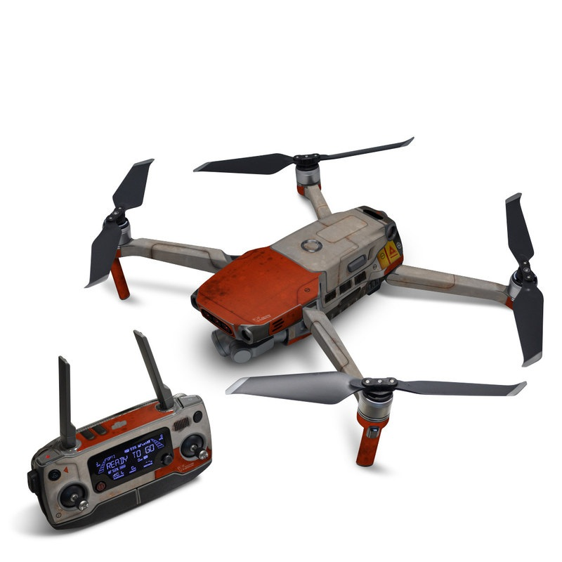 DJI Mavic 2 Skin design with red, gray colors
