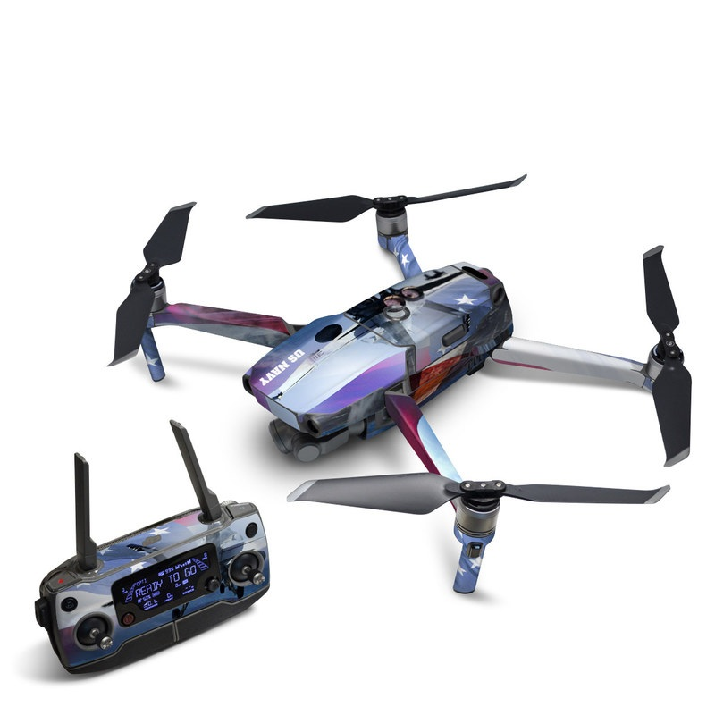 DJI Mavic 2 Skin design of Airplane, Aircraft, Aviation, Vehicle, Airline, Aerospace engineering, Air travel, Air force, Sky, Flight with gray, black, blue, purple colors