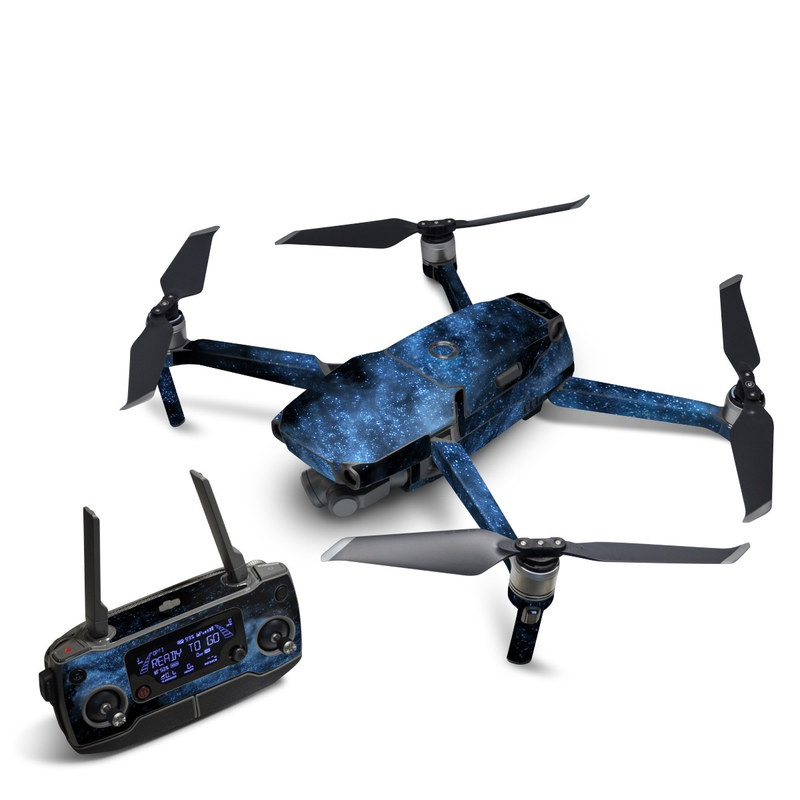 DJI Mavic 2 Skin design of Sky, Atmosphere, Black, Blue, Outer space, Atmospheric phenomenon, Astronomical object, Darkness, Universe, Space with black, blue colors