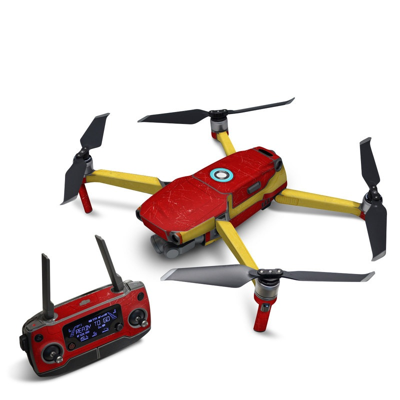 DJI Mavic 2 Skin design with red, yellow, white colors