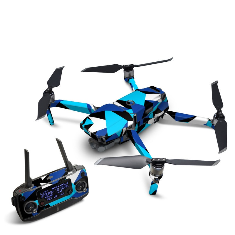 DJI Mavic 2 Skin design with blue, white, black colors