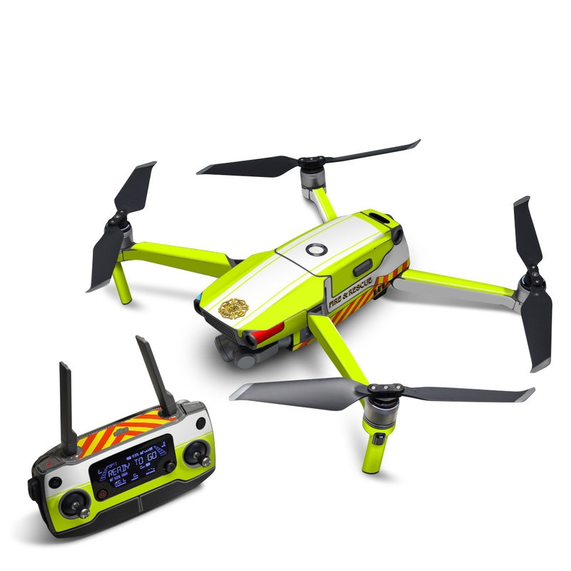 DJI Mavic 2 Skin design of Yellow, Line, Font, Military rank with white, green, red, yellow colors