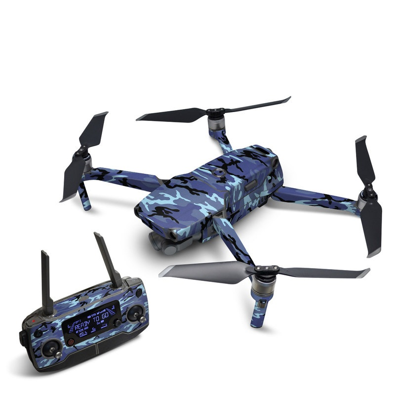 DJI Mavic 2 Skin design of Military camouflage, Pattern, Blue, Aqua, Teal, Design, Camouflage, Textile, Uniform with blue, black, gray, purple colors